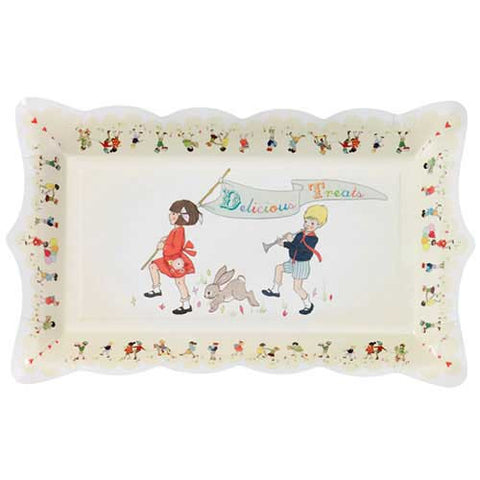 Belle & Boo Nostalgic Pack of 4 Serving Platter Plates