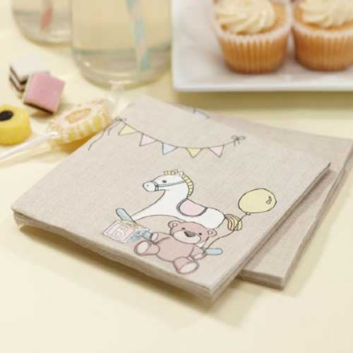 Rock-a-bye Baby Pack of 20 Party Napkins