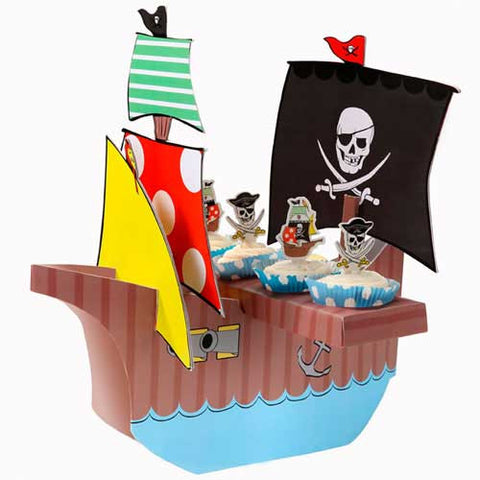 Aye Aye Captain Me Pirate Party Table Centrepiece Cupcake Stand