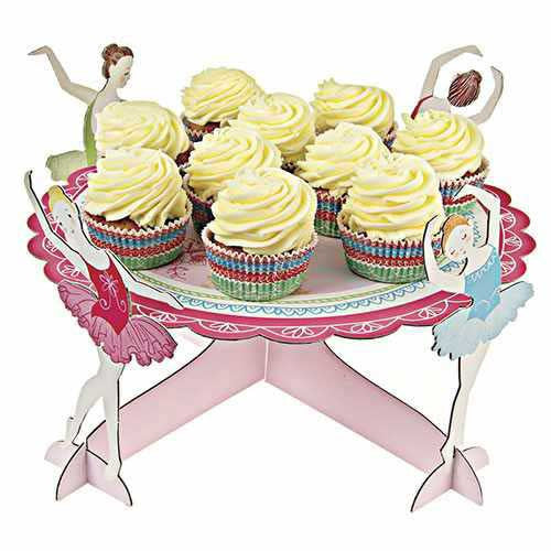 Little Ballet Dancer Gorgeous Ballerinas Floral Single-tier Cupcake Stand
