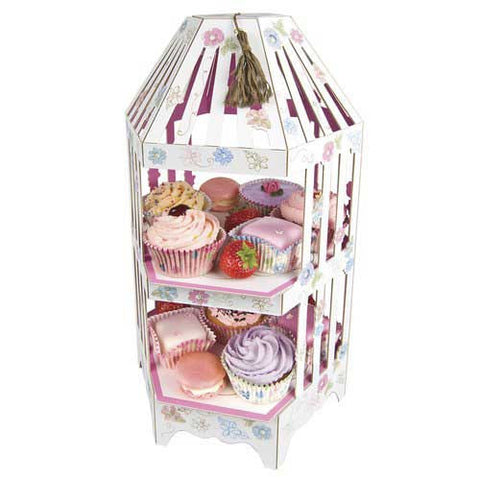 Love in the Afternoon Vintage Floral Patisserie Cupcake Stand Tower