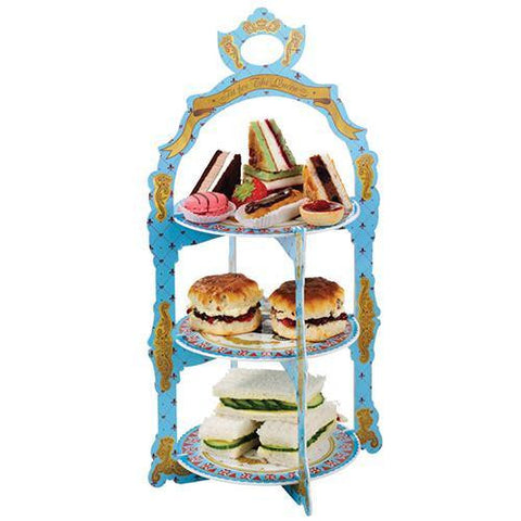 British Vintage Regal 3-tier Reversible Sandwich & Cupcake Stand