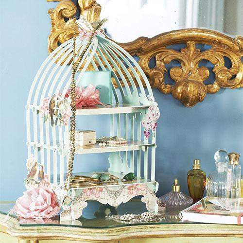Pastries & Pearls Delightful Sage Birdcage Cupcake Stand