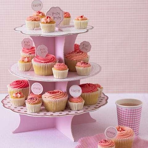 Pink n Mix Polka Dots 3-tier Cupcake Stand
