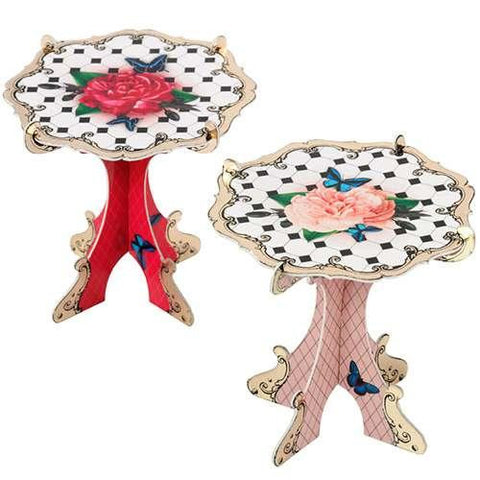 Social Soiree Vintage Shabby Chic Pack of 4 Mini Rosebud Cupcake Stand