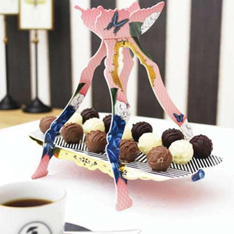 Social Soiree Single Tier Glided Truffles Cupcake Stand
