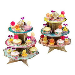 Truly Scrumptious Vintage Floral 3-tier Cupcake Stand