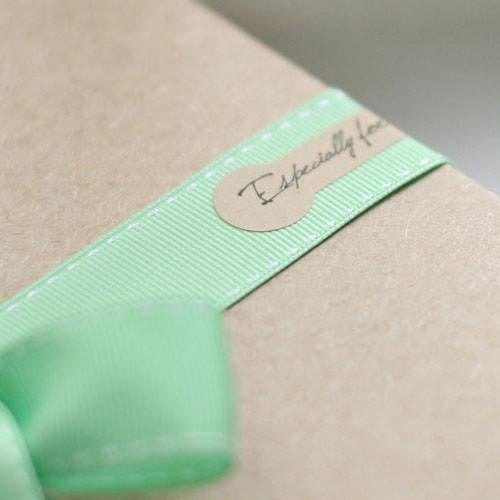 "Pack of 20 Elegant Scripted ""Especially for you"" Kraft Brown Paper Sticker Labels"