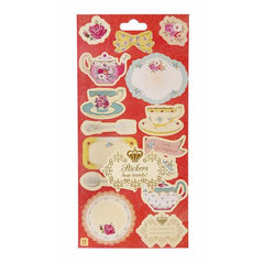 Truly Scrumptious Vintage Shabby Chic Party Favor Pack of 14 Tea Party Sticker Labels