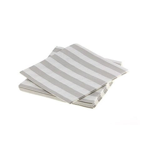 Candy Stripes Champagne Grey Pack of 20 Premium Lunch Napkins
