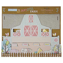 Happy Little Farm Barnyard Animals Table Centrepiece