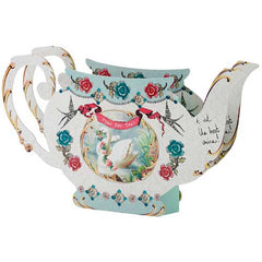 Pastries & Pearls Delightful Teapot-shaped Table Centrepiece Vase