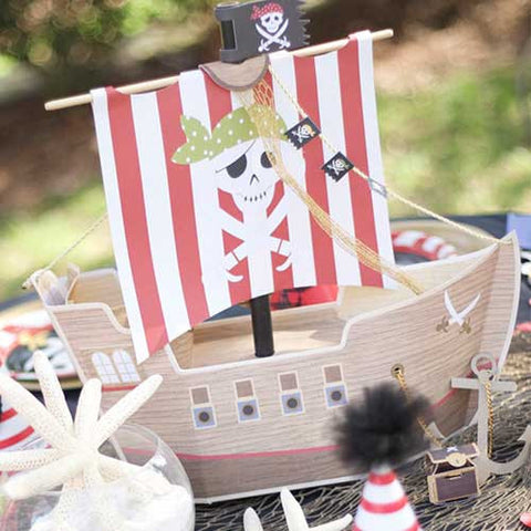 Shiver Me Pirate Ship Party Table Centrepiece