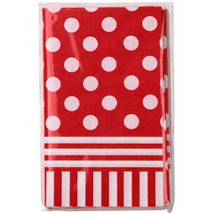 Aye Aye Captain Me Pirate Red Polka Dots Party Table Cover