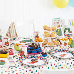 The Very Hungry Caterpillar Rainbow Polka Dots Party Table Cover