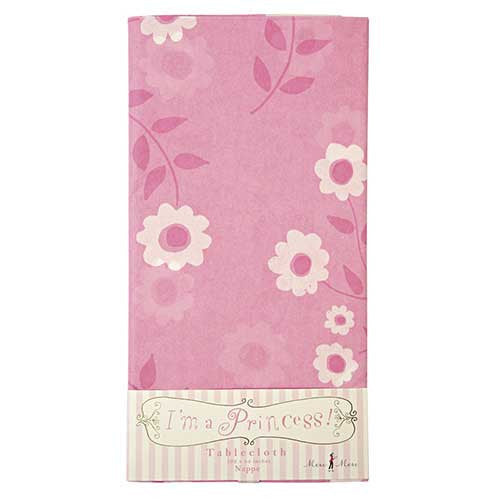 I'm a Princess Pink Floral Pattern Party Table Cover