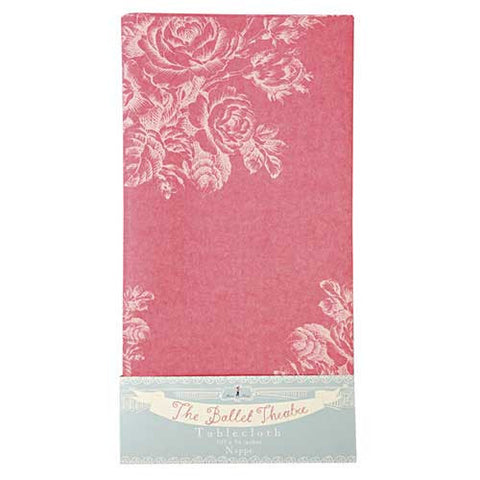 Little Ballet Dancer Rose Pink Floral Patterns Party Table Cover