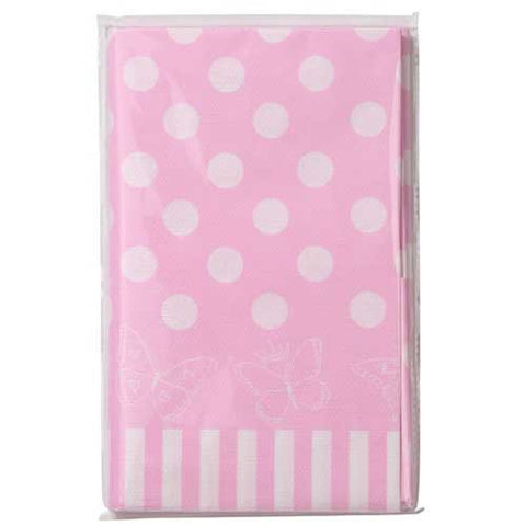 Princess & Kitty Pink Polka Dots Party Table Cover
