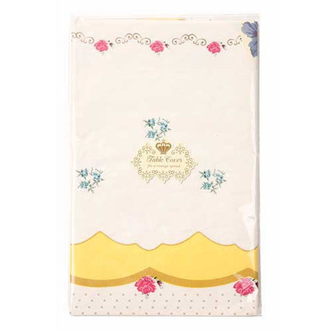 Truly Scrumptious Yellow Floral Patterns Party Table Cover