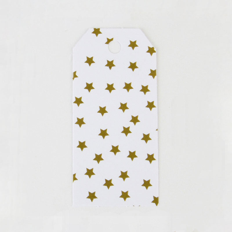 Pack of 12 Gold Stars Print Pattern Party Gift Tags