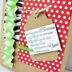 DIY Shabby Chic Pack of 25 Scalloped White Kraft Paper Gift Tags with Cords