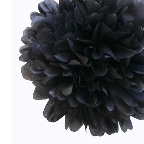 Party Decorative Tissue Pom Pom Black (25cm)