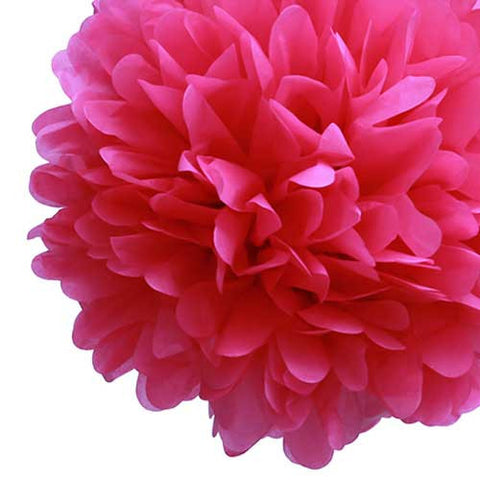 Party Decorative Tissue Pom Pom Fuchsia Hot Pink (30cm)