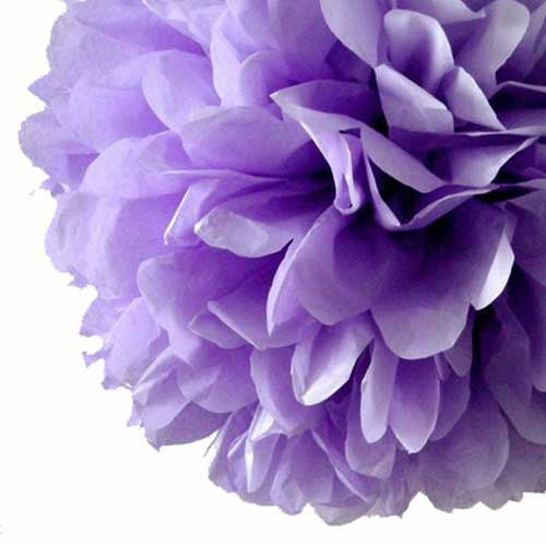 Party Decorative Tissue Pom Pom Lavender Purple (25cm)