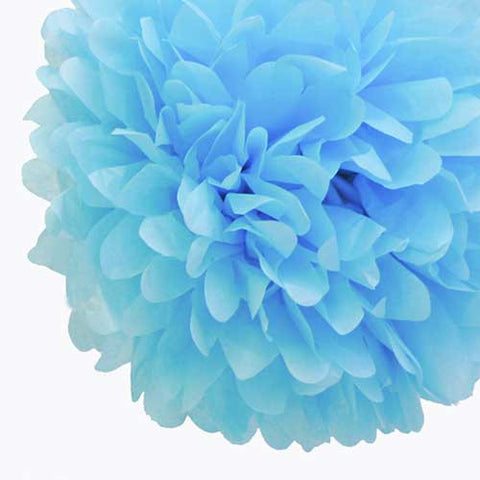 Party Decorative Tissue Pom Pom Light Blue (25cm)