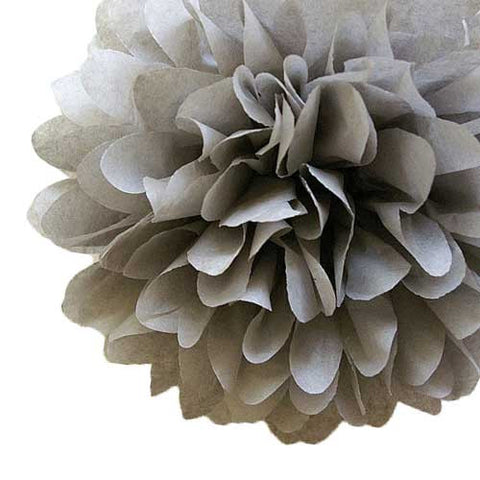 Party Decorative Tissue Pom Pom Light Grey (25cm)