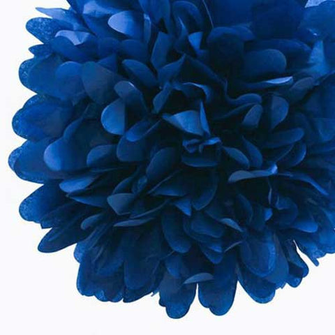 Party Decorative Tissue Pom Pom Navy Blue (30cm)
