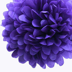 Party Decorative Tissue Pom Pom Royal Purple (30cm)