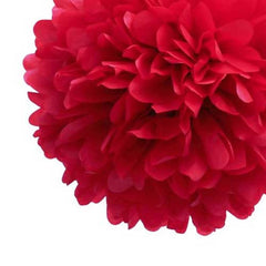 Party Decorative Tissue Pom Pom Red (20cm, 25cm & 30cm)
