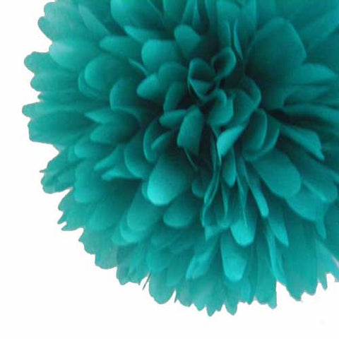 Party Decorative Tissue Pom Pom Teal Green (30cm)