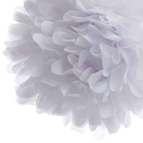 Party Decorative Tissue Pom Pom White (25cm)