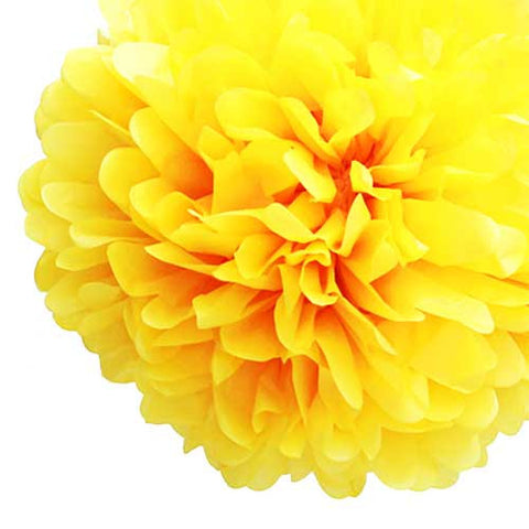 Party Decorative Tissue Pom Pom Yellow (25cm)