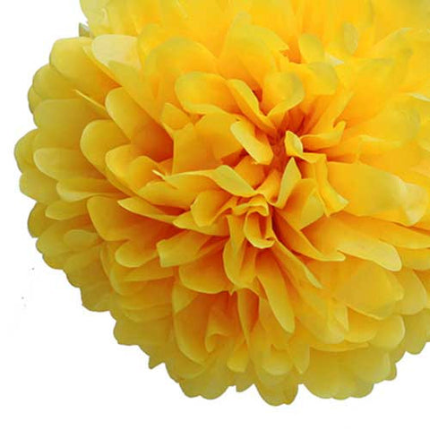 Party Decorative Tissue Pom Pom Yellow (30cm)