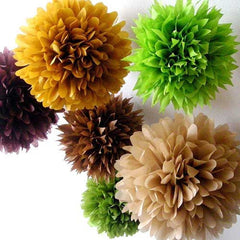 Party Decorative Tissue Pom Pom Apple Green (25cm)