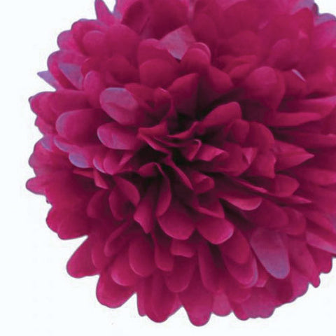 Party Decorative Tissue Pom Pom Burgundy Purple (25cm)