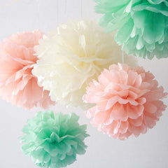 Party Decorative Tissue Pom Pom Aqua Mint (30cm)
