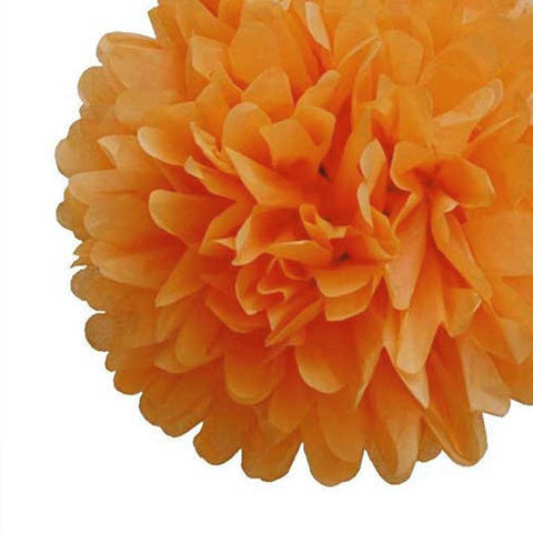 Party Decorative Tissue Pom Pom Light Orange (25cm)