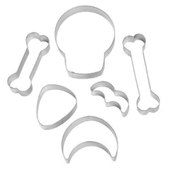 Wilton 6-piece Halloween Skeleton Skull Bat Moon Bone Cookie Cutter Set