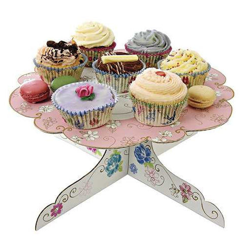 Love in the Afternoon Single-tier Floral Patisserie Cupcake Stand