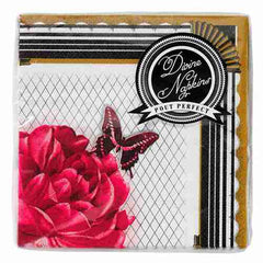 Social Soiree Pack of 25 Divine Cocktail Party Napkins