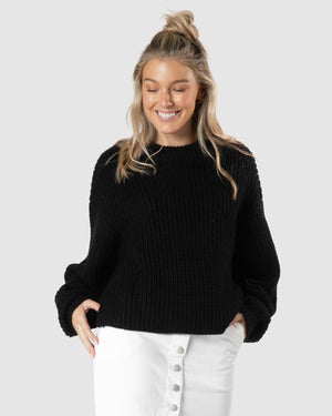 Astrid Bell Jumper - Black