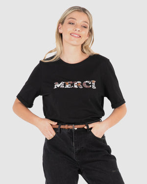 Merci Tee - Black