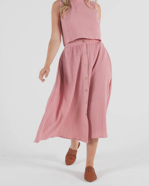 Lulu Skirt - Blush
