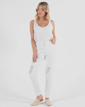Betsey Denim Jean - White