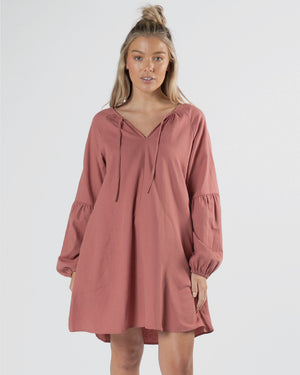 Hilda Dress - Rosewood