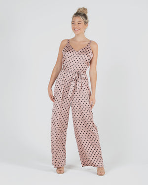 Lucia Jumpsuit - Blush Spot
